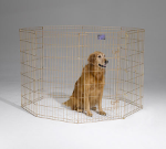 Midwest 546-42 Gold Zinc Exercise Pen With Door