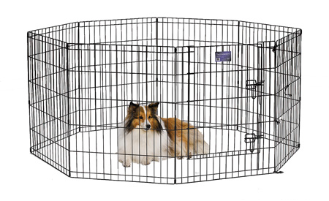 Black E-Coat Exercise Pen With Door by Midwest
