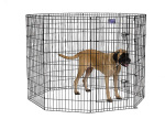 Midwest 558-48DR Black E-Coat Exercise Pen With Door