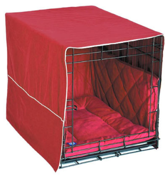 "Burgundy Crate Cover 3-Piece: 42"" Crates"