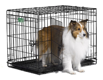iCrate 1530DD Double Door Folding Dog Crate