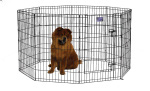 Midwest 554-36DR Black E-Coat Exercise Pen With Door