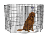 Midwest 556-42DR Black E-Coat Exercise Pen With Door