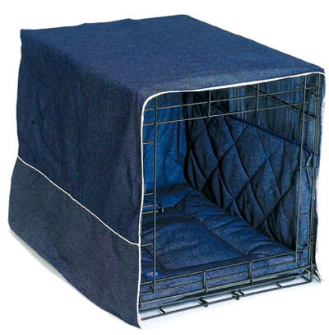 "Blue Denim Crate Cover 3-Piece: 24"" Crates"