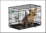 iCrate 1522DD Double Door Folding Dog Crate