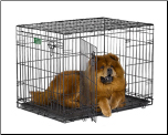 iCrate 1536DD Double Door Folding Dog Crate