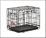 Life Stages ACE-418DD Double Door Folding Dog Crate