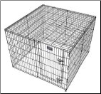 Exercise Pen Wire Mesh Top by Midwest