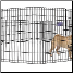 Eight Panel 24 Inch Tall Exercise Pen With Door