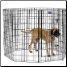Eight Panel 48 Inch Tall Exercise Pen With Door