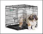 iCrate 1524DD Double Door Folding Dog Crate