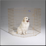 Midwest 548-48 Gold Zinc Exercise Pen With Door