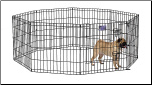 Midwest 550-24DR Black E-Coat Exercise Pen With Door