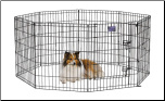 Midwest 552-30DR Black E-Coat Exercise Pen With Door