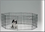 Midwest 550-24 Black E-Coat Exercise Pen