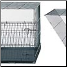 Folds down for easy transportation & storage (different crate model shown - mechanism is identical)