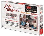 Midwest Life Stages Single Door Dog Crate Packaging