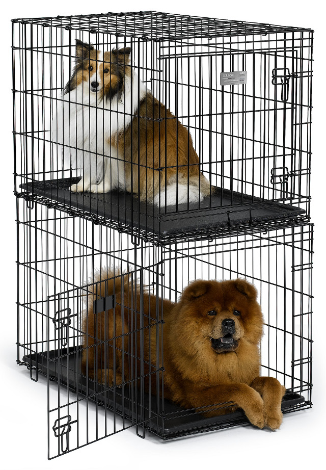 midwest sl35st stackable dog crate designed to be secure when properly stacked - Midwest Crates