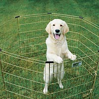 Midwest gold zinc exercise exercise pen with corner stabilizers