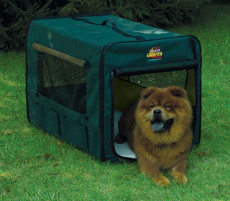 Midwest Canine Camper 1736cc2 Two Door Portable Tent Crate