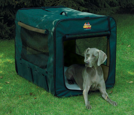 Midwest Canine Camper 1742cc2 Two Door Portable Tent Crate