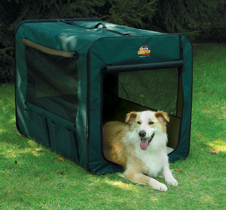 Midwest Canine Camper 1748cc2 Two Door Portable Tent Crate