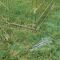 Midwest dog exercise pen with ground anchors