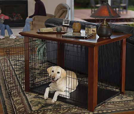 Midwest Pet Products & Heritage Series Hardwood Crate Cover | Midwest Wood Crate Tables