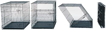 Large Midwest Dog Crate Folding Sequence